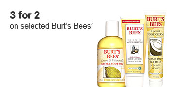 3 for 2 on selected Burts Bees