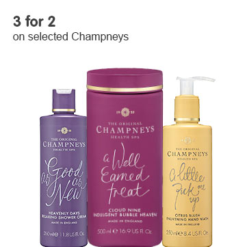 3 for 2 on selected Champneys