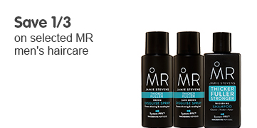 Save 1/3 on selected MR men's haircare