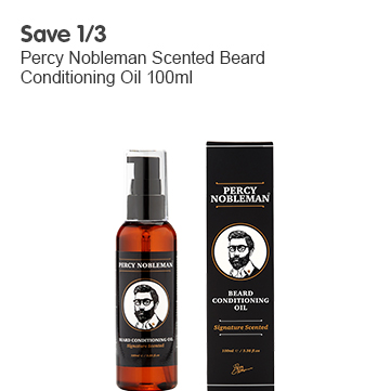 Save 1/3 Percy Nobleman Scented Beard Conditioning Oil 100ml