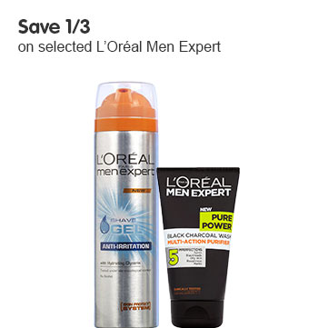 Save third on selected LOreal Men Expert