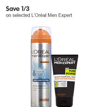 Save third on selected LOreal Men Expert