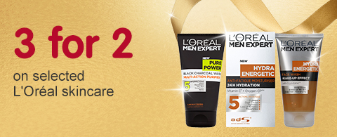 3 for 2 on selected LOreal skincare