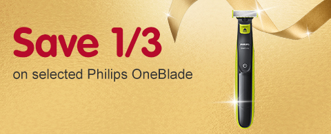 Save 1/3 on selected Philips OneBlade