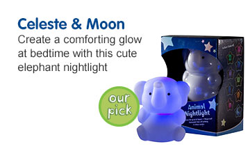 Celeste & Moon - Create a comforting Glow with the cute elephant nightlight