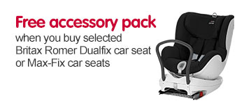Free accessory pack when you buy selected Britax Romer Dualfix car seat