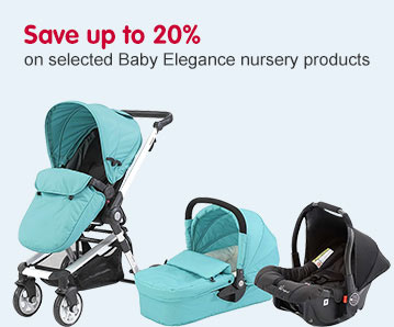 Save up to 20% on selected Baby Elegance nursery products