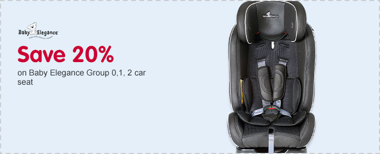 Save 20% on Baby Elegance Group 0,1,2 car seat