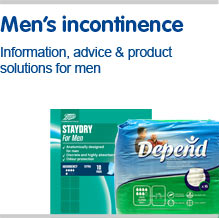 Mens incontinence information, advice and product solutions for men
