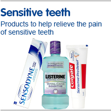 Sensitive teeth. Products to help relieve the pain of sensitive teeth
