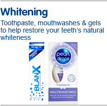 Whitening Toothpastes, mouthwashes and gels to help restore your teeth's natural whiteness