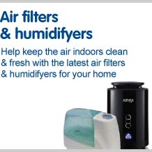 Air filters and humidifyers help keep your home clean and fresh