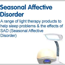 Seasonal affective disorder a range of light therapy products to help sleep problems and the effects of SAD