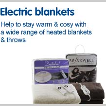 Electric blankets help to stay warm and cosy with a wide range of heated blankets and throws