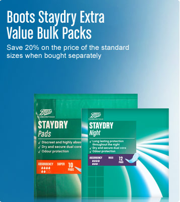 Boots staydry extra value bulk packs
