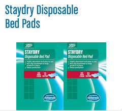 Boots staydry disposable bed pads