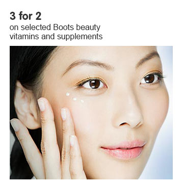 3 for 2 on Boots Beauty Vitamins