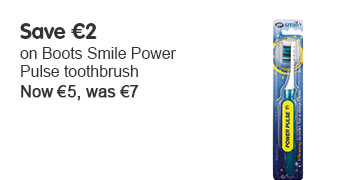 Save €2  on the Boots Pharmaceuticals Smile Power Pulse toothbrush