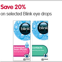 Save 20pc on selected Blink eye drops