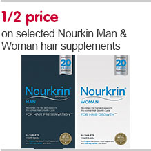 Save 50 percent onselected  Nourkrin