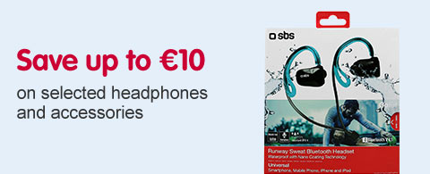 Save up to ?10 on selected headphones, speakers and accessories