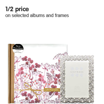 1/2 price on selected albums and frames