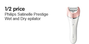 1/2 price Philips BRP535 Satinelle Prestige Wet & Dry Epilator