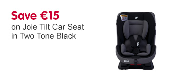 Save 15 Euros on Joie Tilt Car Seat in Two Tone Black