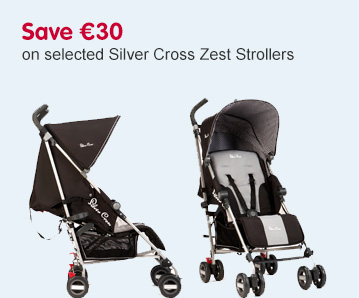 Save 30 Euros on selected Silver Cross Zest Strollers