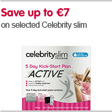Save up to €7 on selected Celebrity slim