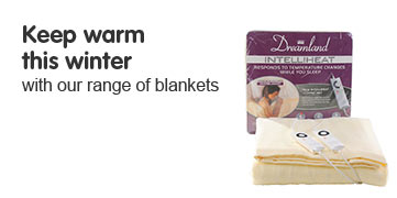 Dreamland Keep warm this winter with our range of blankets.