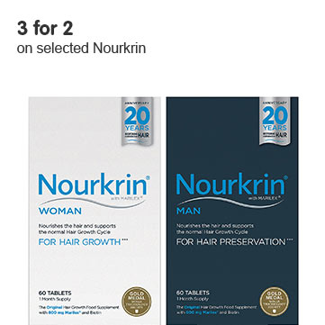 3 for 2 on selected Nourkrin