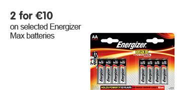 2 for ?10 on energiser batteries