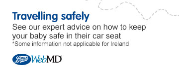Web MD - Travelling safely with baby. Expert advice on how to keep your baby safe in the car
