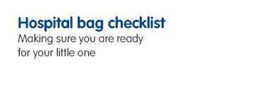 Your baby bag checklist