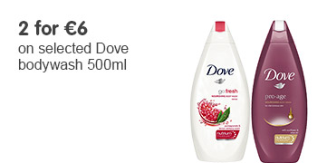 2 for 6 Euros on selected Dove